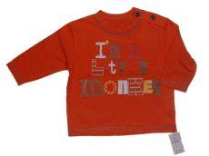 Narancssárga, feliratos póló, ÚJ