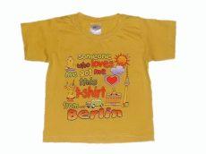 Sárga dombornyomásos póló