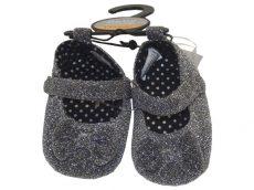 Baby, Szürke, csillogós, masnis puhatalpú cipő, ÚJ