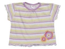 Csíkos, virágos póló