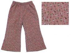 Virágos, bélelt, mikrokord nadrág